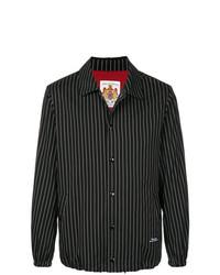 Chaqueta estilo camisa de rayas verticales negra de Education From Youngmachines