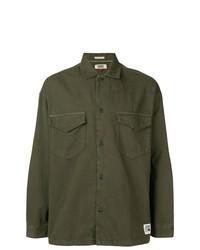 Chaqueta estilo camisa de sarga verde oliva de Tommy Jeans