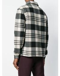 Chaqueta estilo camisa de tartán en negro y blanco de AMI Alexandre Mattiussi
