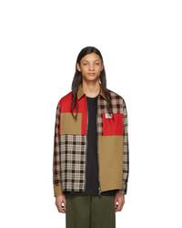Chaqueta estilo camisa de tartán marrón claro de Burberry