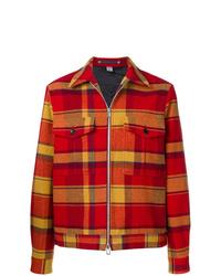 Chaqueta estilo camisa de tartán roja de Ps By Paul Smith