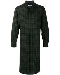 Chaqueta estilo camisa de tartán verde oscuro de Kenzo