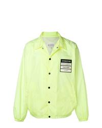 Chaqueta estilo camisa en amarillo verdoso de Maison Margiela
