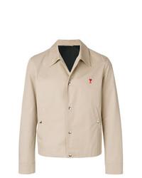 Chaqueta estilo camisa en beige de AMI Alexandre Mattiussi