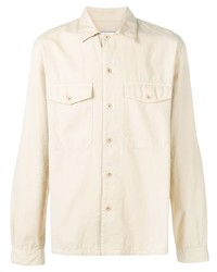 Chaqueta estilo camisa en beige de Ami Paris