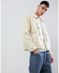 Chaqueta estilo camisa en beige de ASOS DESIGN