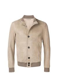 Chaqueta estilo camisa en beige de Giorgio Armani
