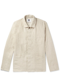 Chaqueta estilo camisa en beige de Nn07
