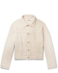 Chaqueta estilo camisa en beige de Story Mfg.