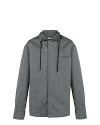 Chaqueta estilo camisa en gris oscuro de Lanvin