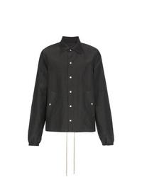 Chaqueta estilo camisa en gris oscuro de Rick Owens