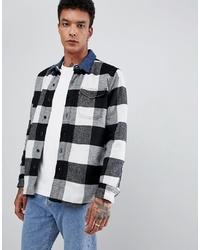 Chaqueta estilo camisa en negro y blanco de LEVIS SKATEBOARDING