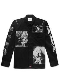 Chaqueta estilo camisa en negro y blanco de TAKAHIROMIYASHITA TheSoloist.