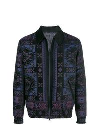 Chaqueta estilo camisa estampada azul marino de Etro