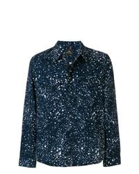 Chaqueta estilo camisa estampada azul marino de Ps By Paul Smith
