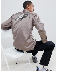 Chaqueta estilo camisa estampada gris