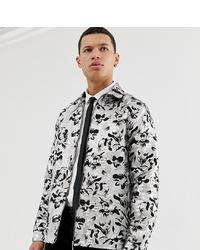 Chaqueta estilo camisa estampada gris de ASOS Edition