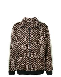 Chaqueta estilo camisa estampada marrón de Valentino