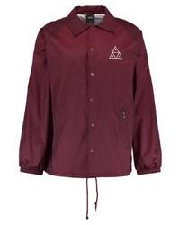 Chaqueta estilo camisa estampada morado oscuro de HUF