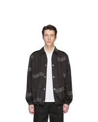 Chaqueta estilo camisa estampada negra de Givenchy