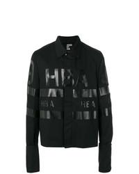 Chaqueta estilo camisa estampada negra de Hood by Air