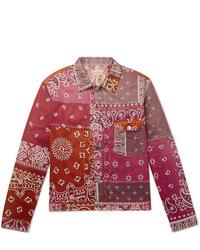 Chaqueta estilo camisa estampada rosada de KAPITAL