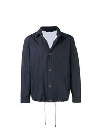 Chaqueta estilo camisa ligera azul marino de Z Zegna