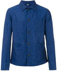 Chaqueta estilo camisa ligera azul de Burberry