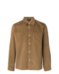 Chaqueta estilo camisa marrón claro de A.P.C.