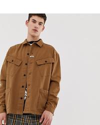 Chaqueta estilo camisa marrón claro de Collusion
