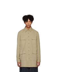 Chaqueta estilo camisa marrón claro de Random Identities