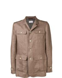 Chaqueta estilo camisa marrón de Brunello Cucinelli