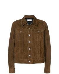 Chaqueta estilo camisa marrón de Saint Laurent