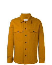 Chaqueta estilo camisa mostaza de AMI Alexandre Mattiussi