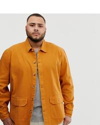Chaqueta estilo camisa mostaza de ASOS DESIGN