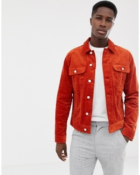 Chaqueta estilo camisa naranja de ASOS DESIGN