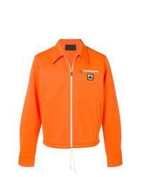 Chaqueta estilo camisa naranja de Prada