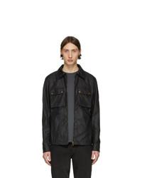 Chaqueta estilo camisa negra de Belstaff