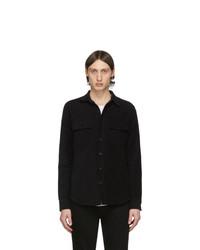 Chaqueta estilo camisa negra de Frame