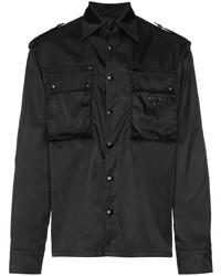 Chaqueta estilo camisa negra de Prada