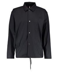 Chaqueta estilo camisa negra de Rains