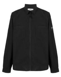 Chaqueta estilo camisa negra de Stone Island