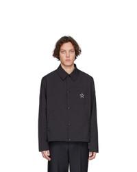 Chaqueta estilo camisa negra de Valentino