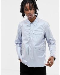 Chaqueta estilo camisa plateada de ASOS DESIGN