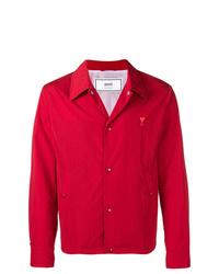 Chaqueta estilo camisa roja de AMI Alexandre Mattiussi