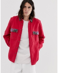Chaqueta estilo camisa roja de ASOS DESIGN