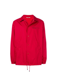 Chaqueta estilo camisa roja de Valentino