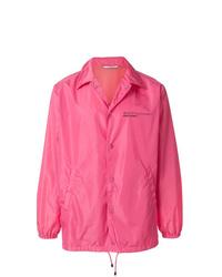 Chaqueta estilo camisa rosa de Valentino