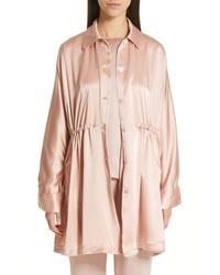 Chaqueta estilo camisa rosada