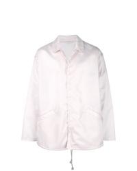 Chaqueta estilo camisa rosada de Marni